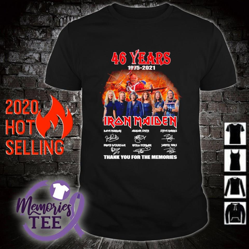 46 years of Iron Maiden 1975 2021 thank you for the memories shirt