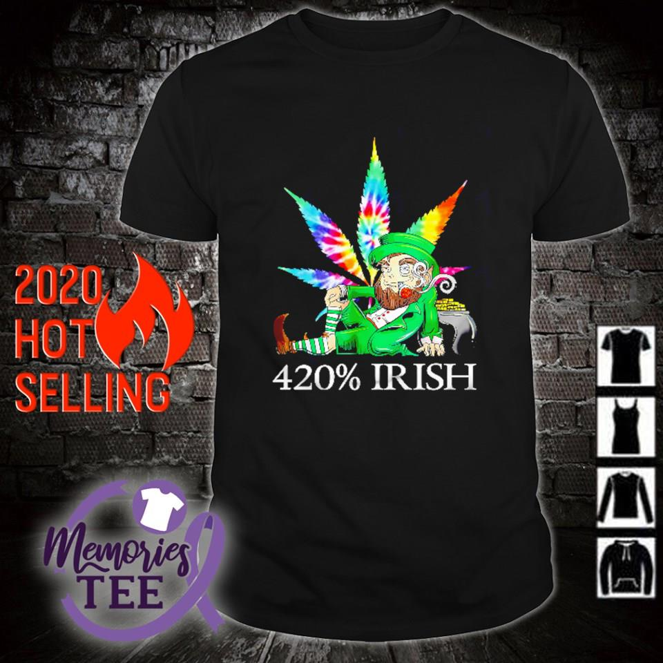 Leprechaun weed 420% Irish St Patrick's Day shirt