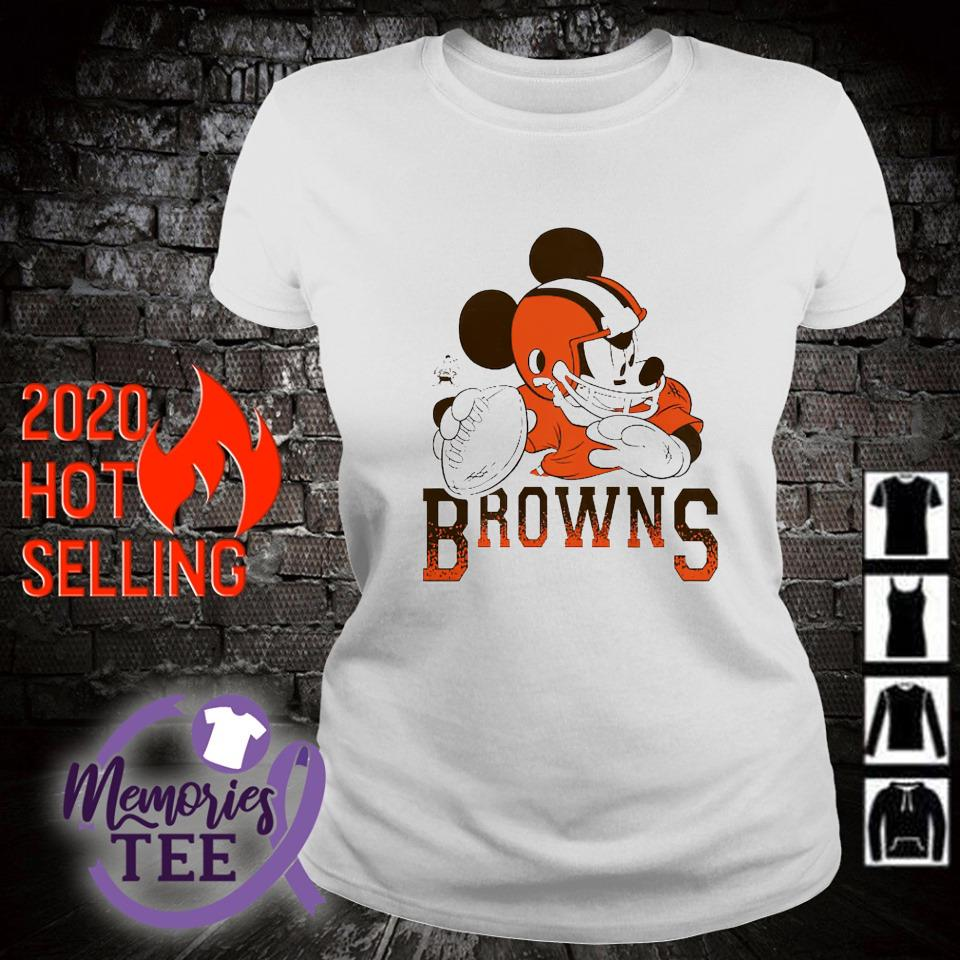 Disney Mickey Cleveland Browns s ladies-tee