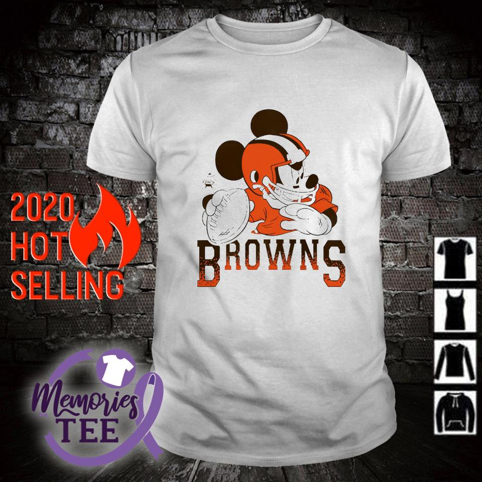 Disney Mickey Cleveland Browns shirt