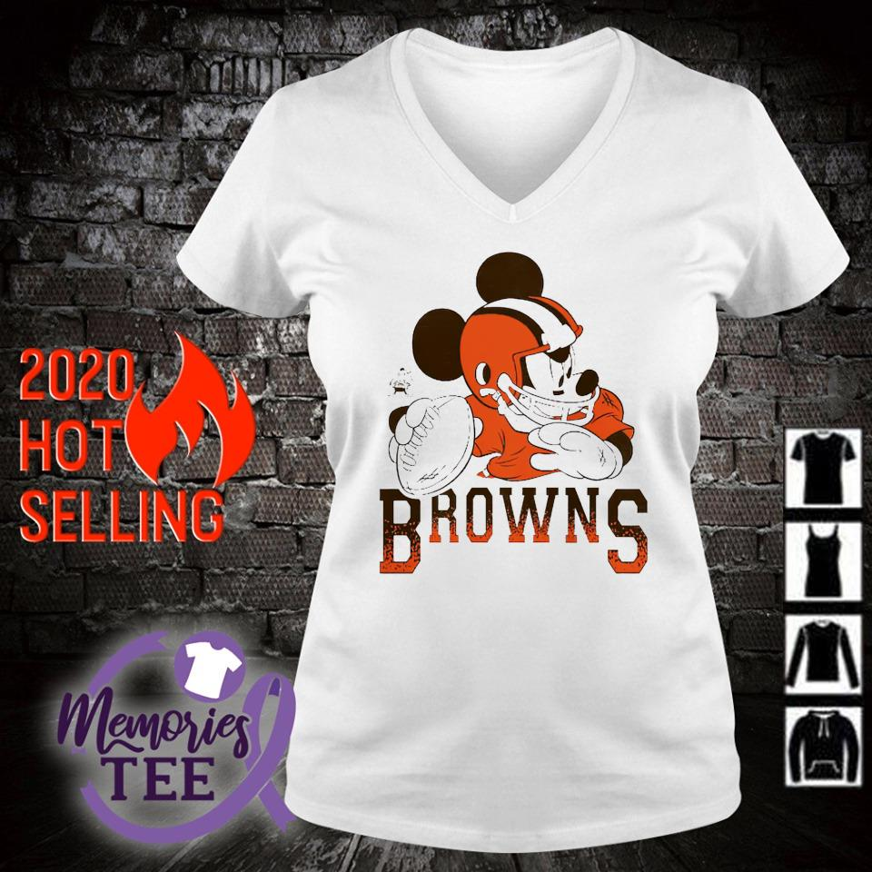 Disney Mickey Cleveland Browns s v-neck t-shirt