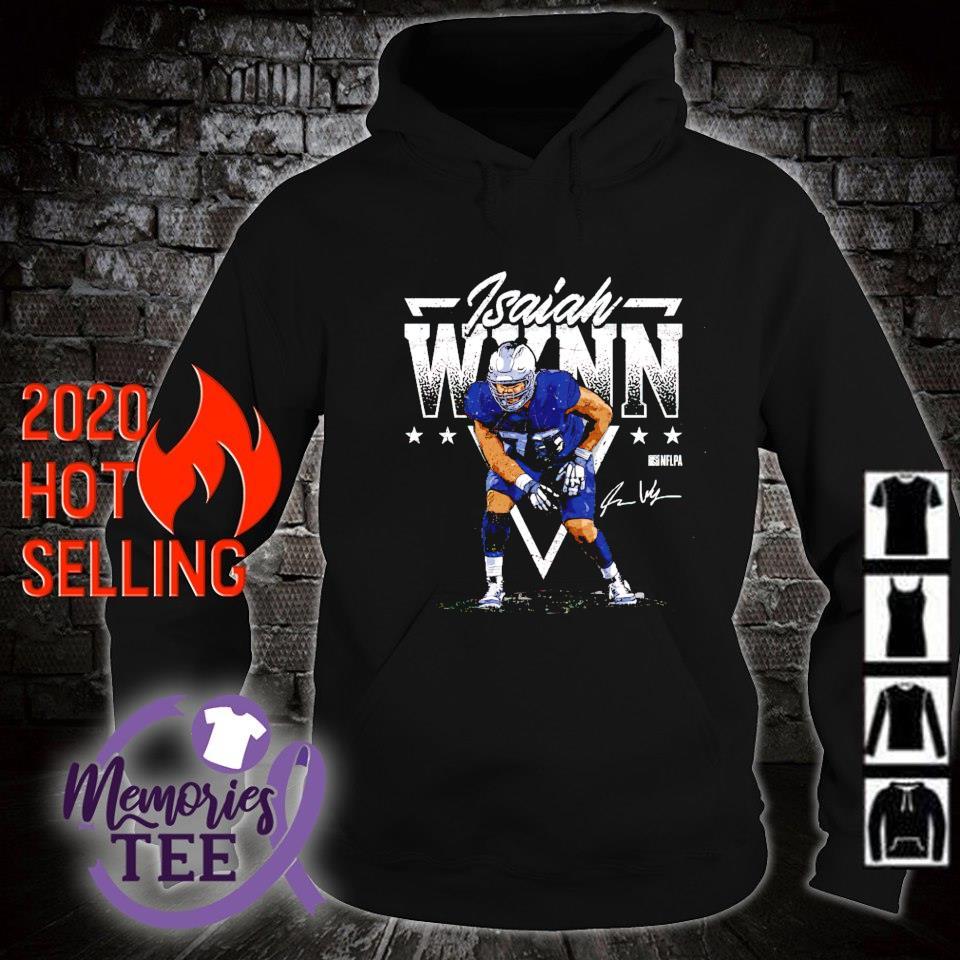 New England Football Isaiah Wynn Triangle s hoodie