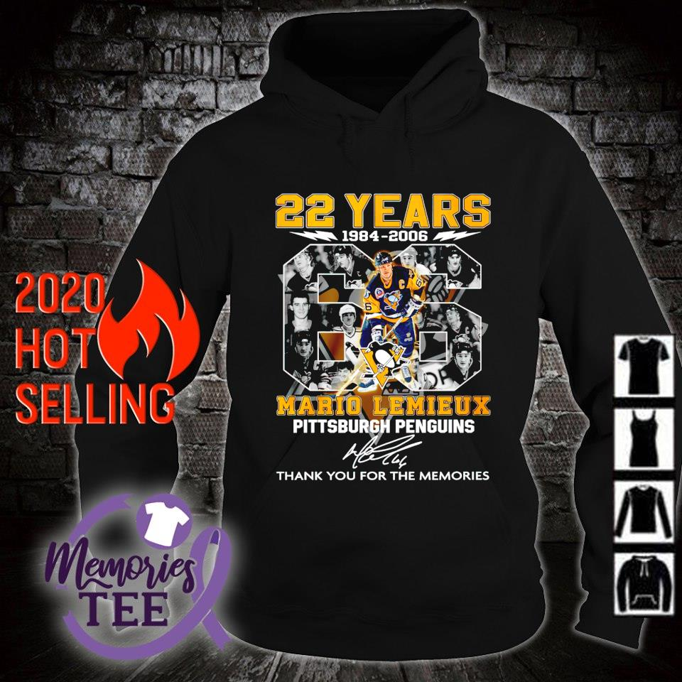 Pittsburgh Penguins 22 years 1984 2006 Mario Lemieux thank you for the memories s hoodie