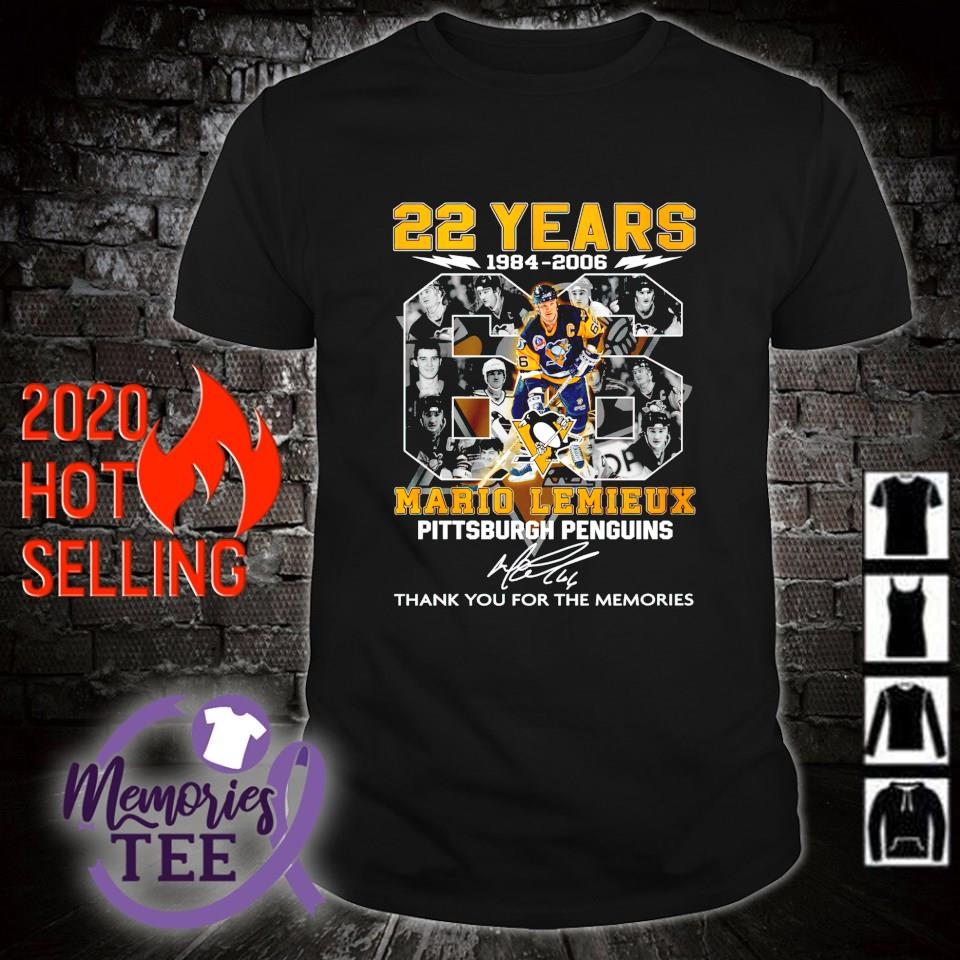 Pittsburgh Penguins 22 years 1984 2006 Mario Lemieux thank you for the memories shirt