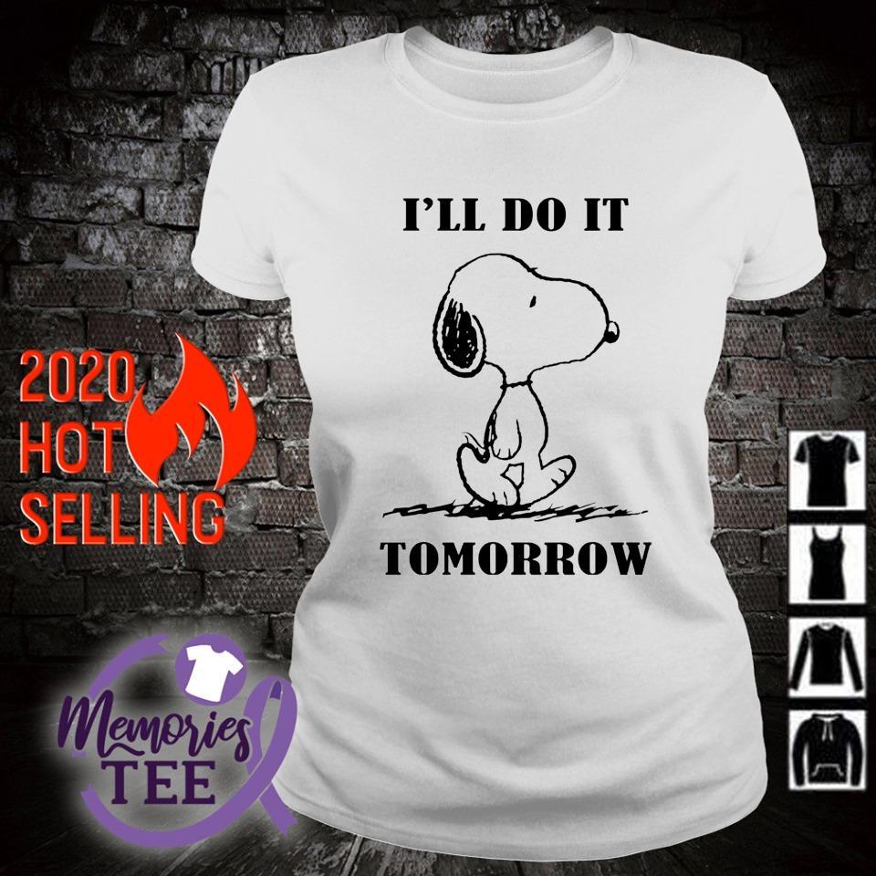 Snoopy I'll do it tomorrow s ladies-tee