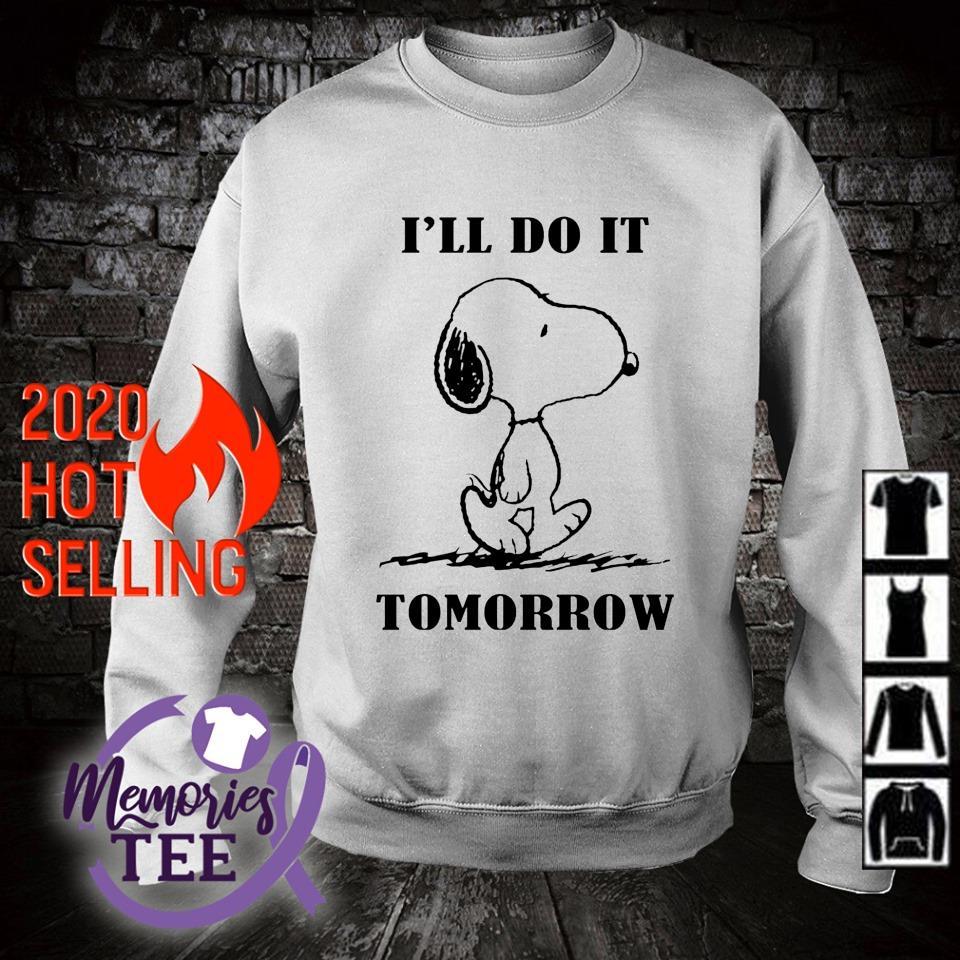 Snoopy I'll do it tomorrow s sweater
