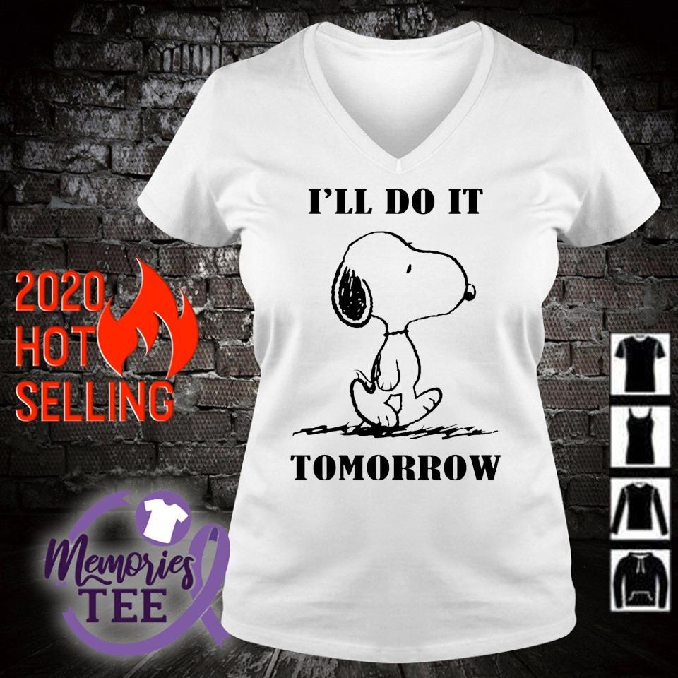 Snoopy I'll do it tomorrow s v-neck t-shirt