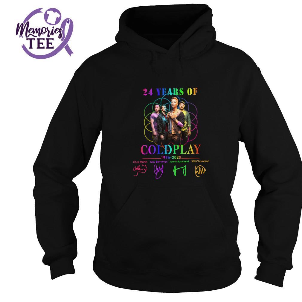 24 Years of Coldplay 1996 - 2020 signatures Hoodie