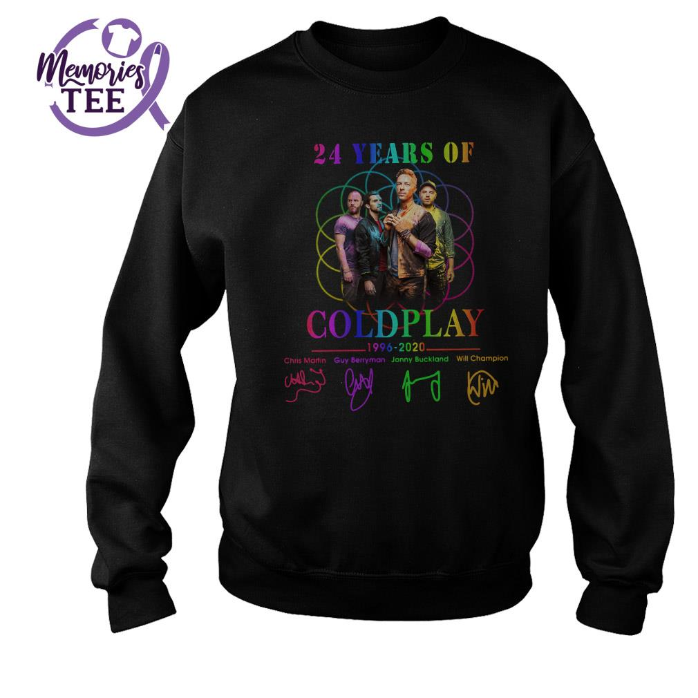24 Years of Coldplay 1996 - 2020 signatures Sweater