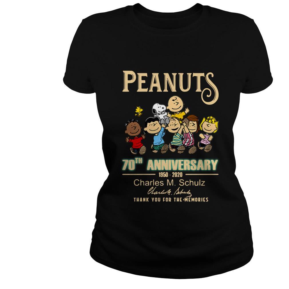Peanuts 70th Anniversary 1950-2020 Charles M. Schulz signature shirt