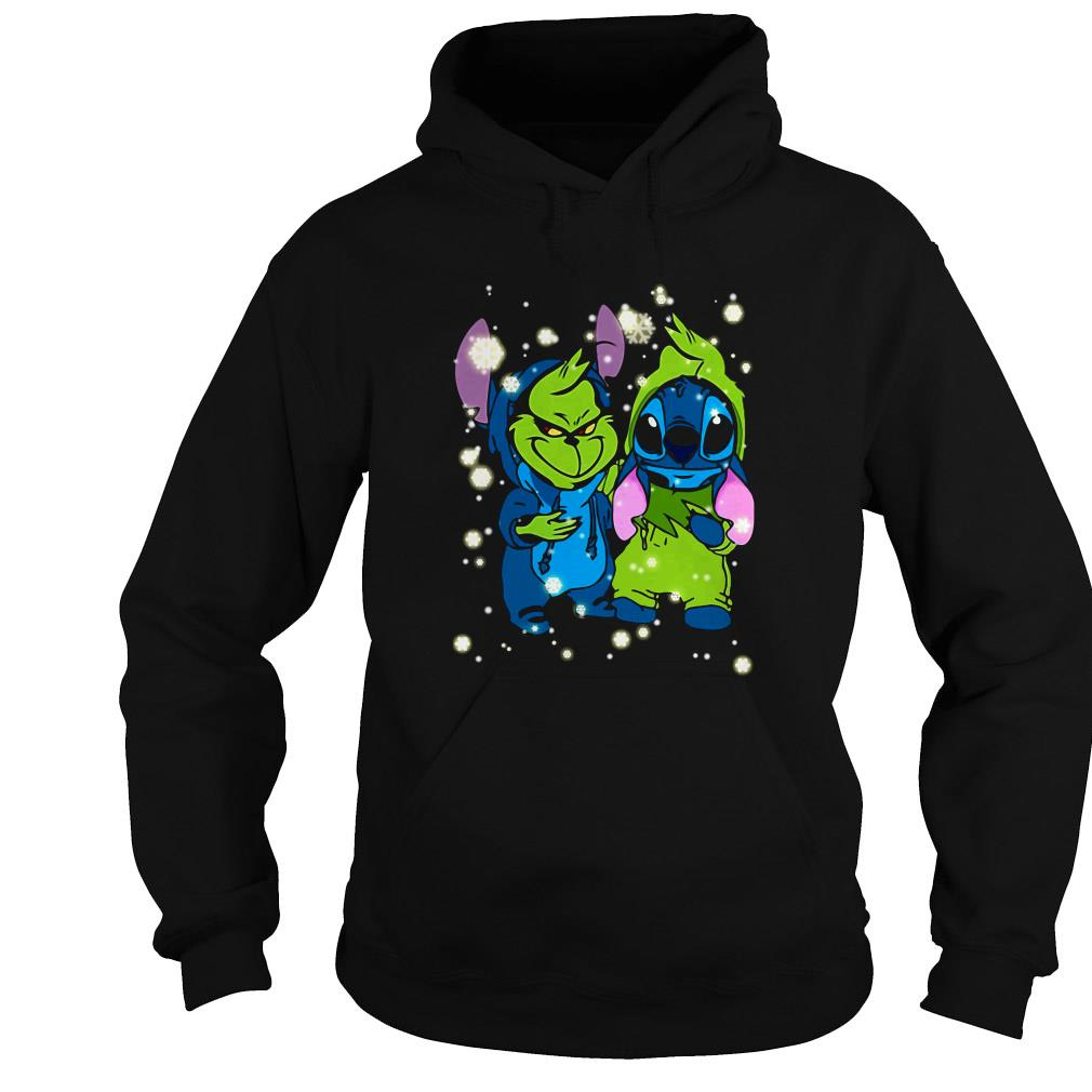 Baby Grinch and Stitch Christmas sweater