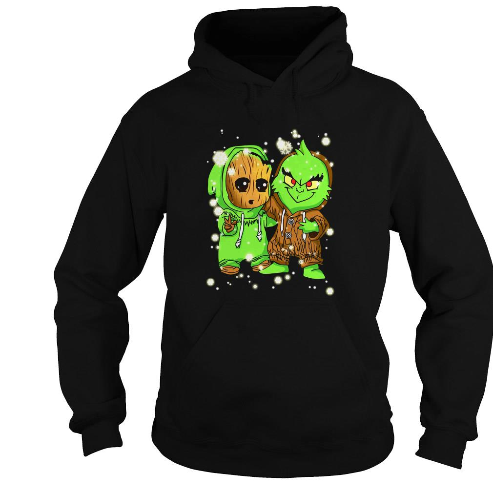 Baby Groot and Grinch Christmas sweater