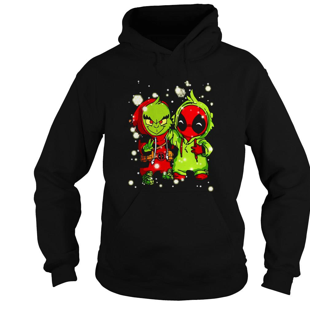 Baby Grinch and Deadpool Christmas sweater