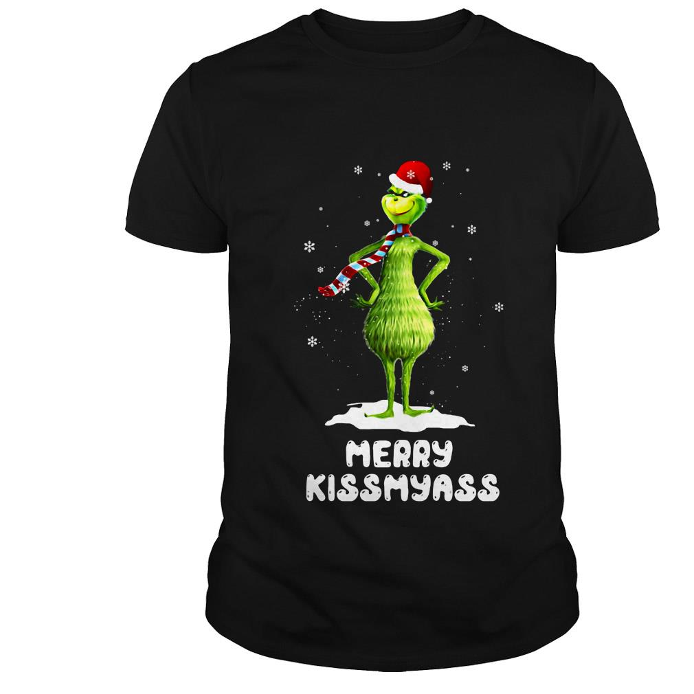 Grinch Santa Merry Kissmyass Christmas sweater
