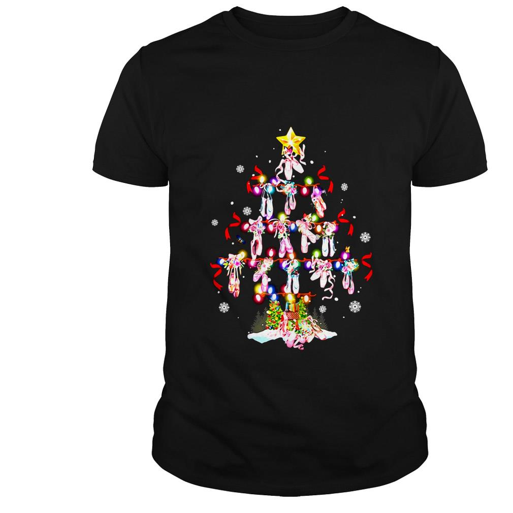 Ballet shoes tree Christmas sweater