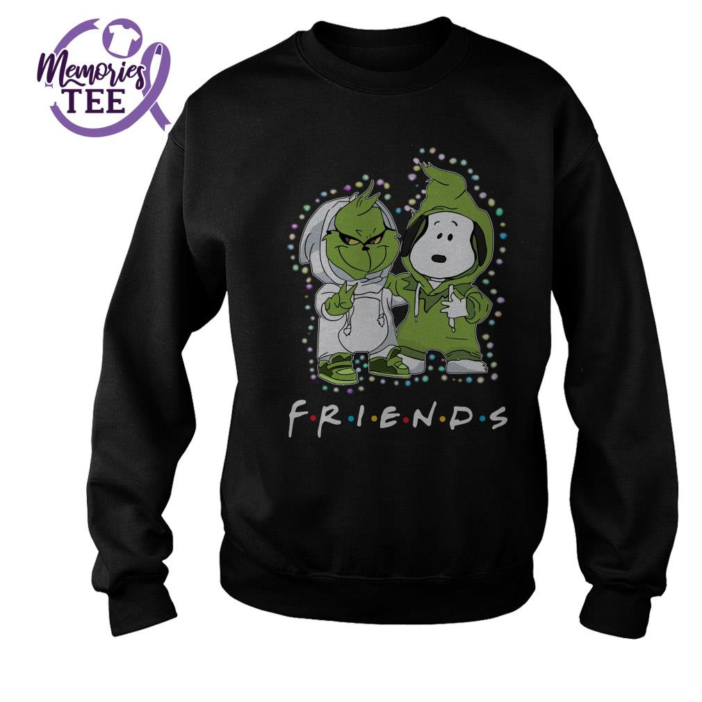 Baby Grinch and Snoopy friends Christmas ugly sweater