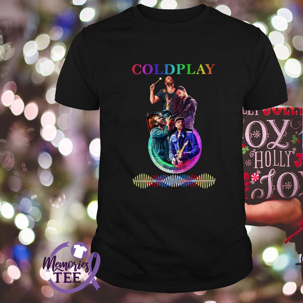 Coldplay team music signature shirt
