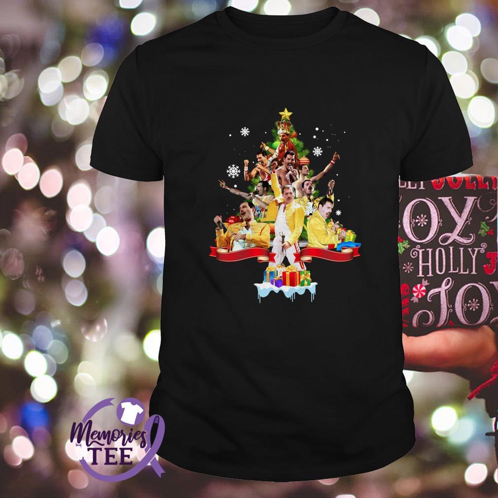 Freddie Mercury Christmas tree Guys Shirt