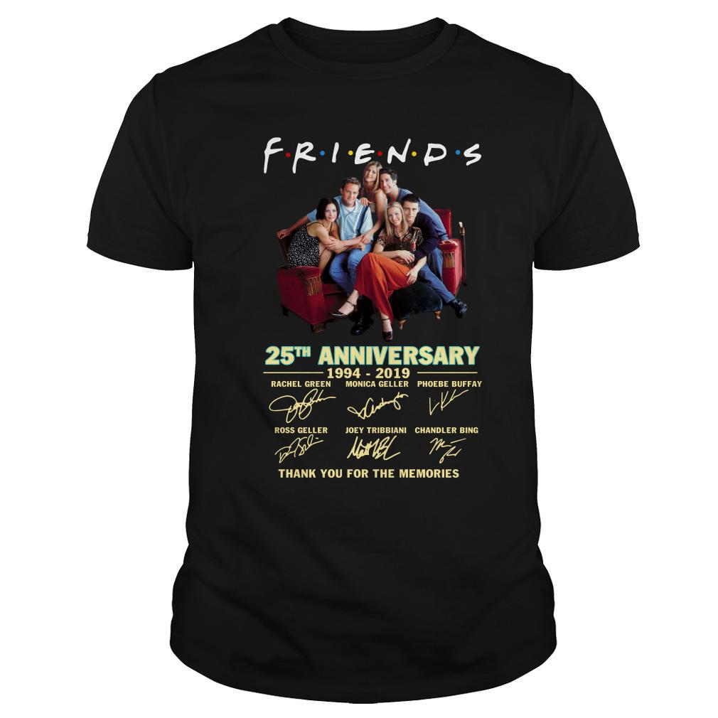 Friends TV show 25th anniversary thank you for the memories shirt