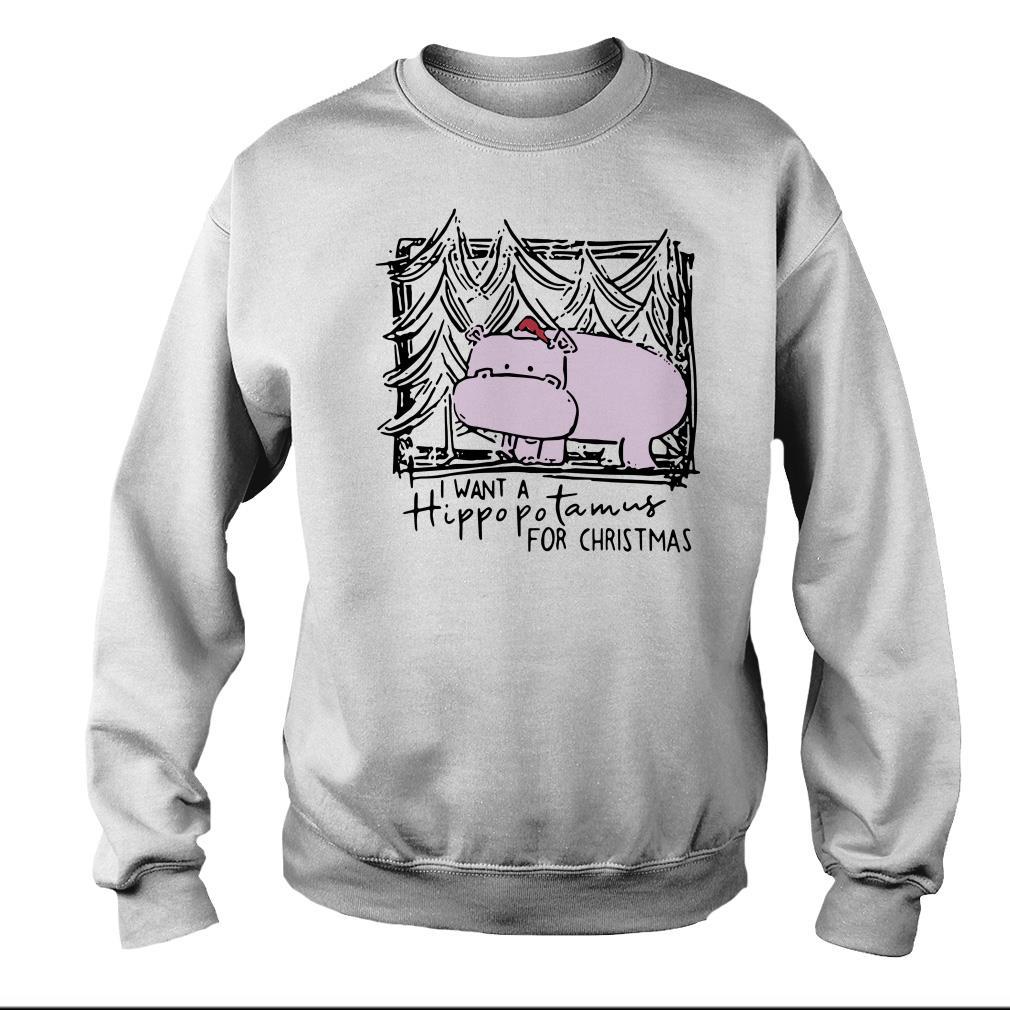 I want a Hippopotamus for Christmas sweater