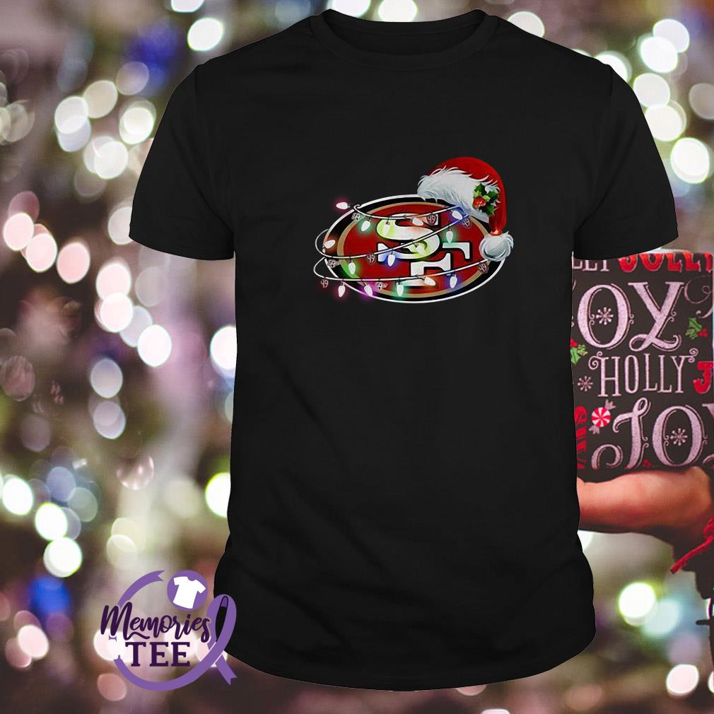 San Francisco 49ers Santa Claus hat Christmas ugly Guys Shirt
