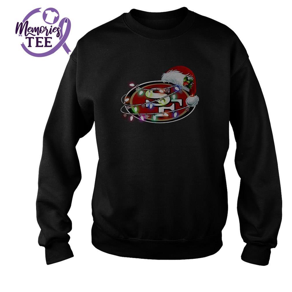 San Francisco 49ers Santa Claus hat Christmas ugly sweater