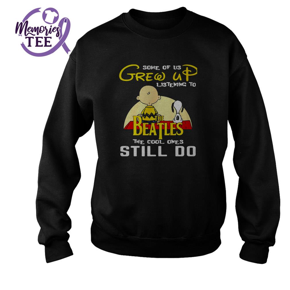 Snoopy Charlie Brown some of us grew up listening to The Beatles Sweater