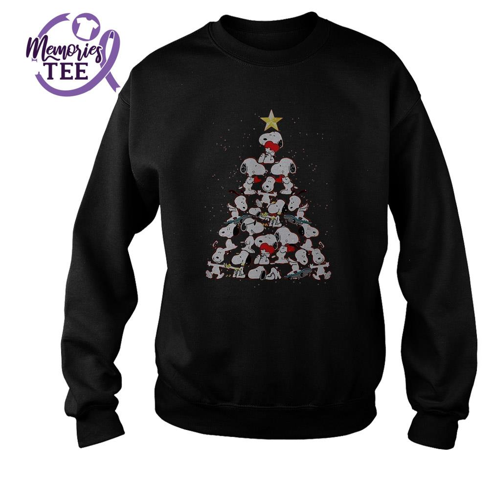 Snoopy tree Christmas ugly sweater