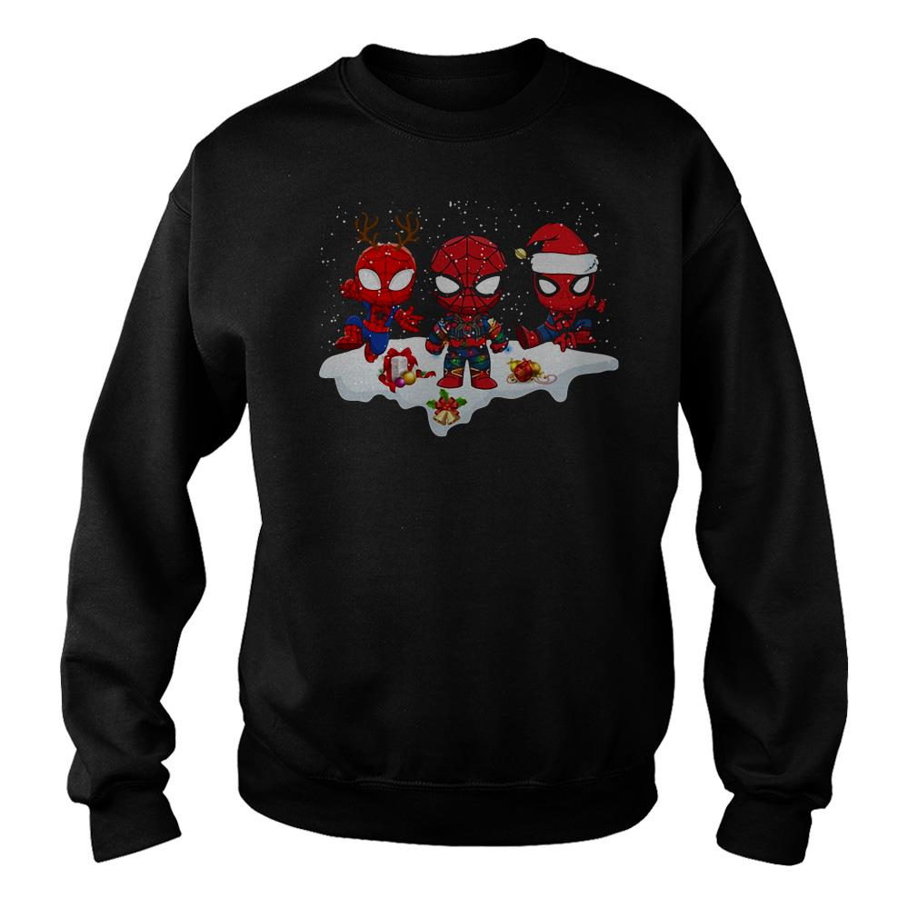 Spider Man Santa snow Christmas sweater