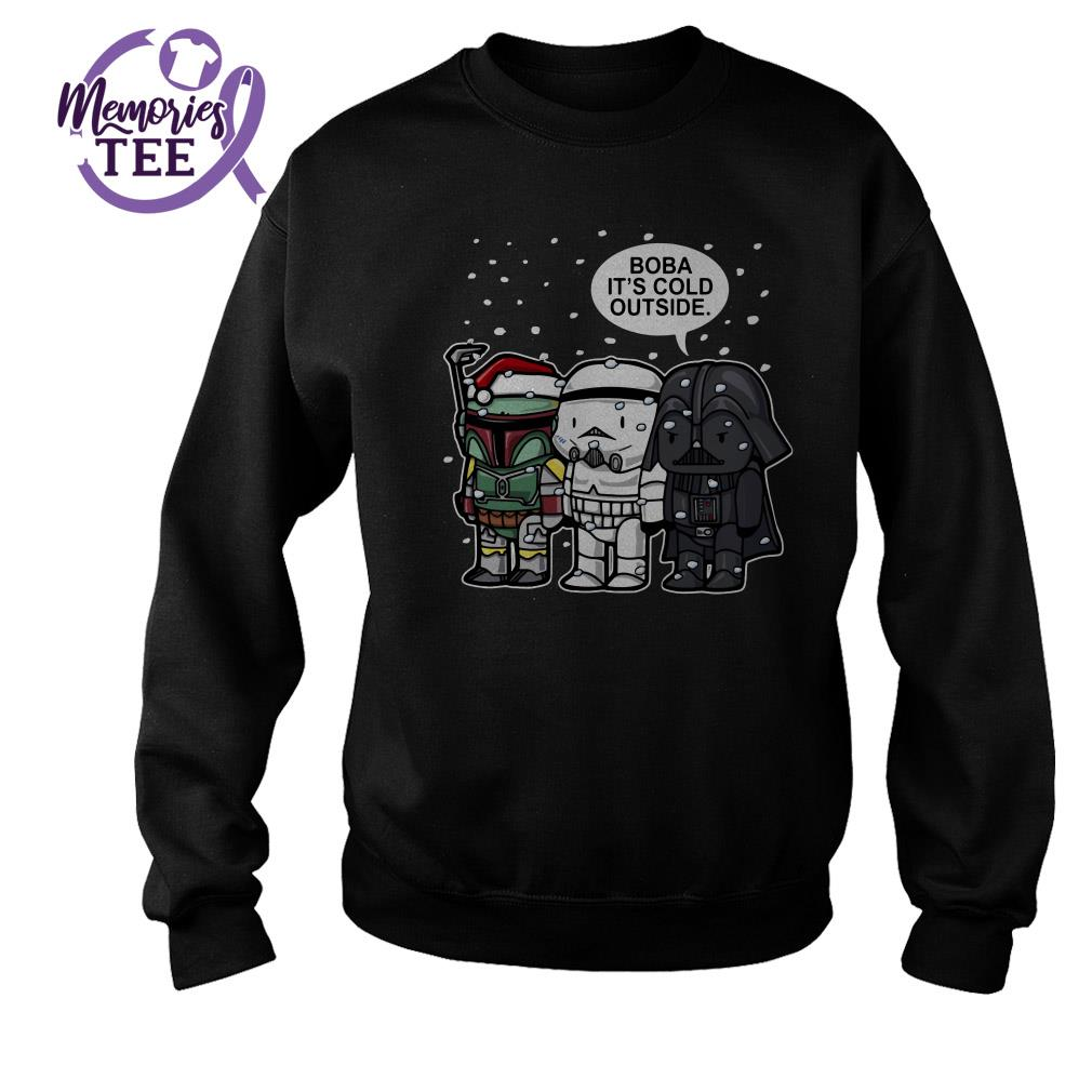 Star Wars Boba It's cold outside Christmas ugly sweater