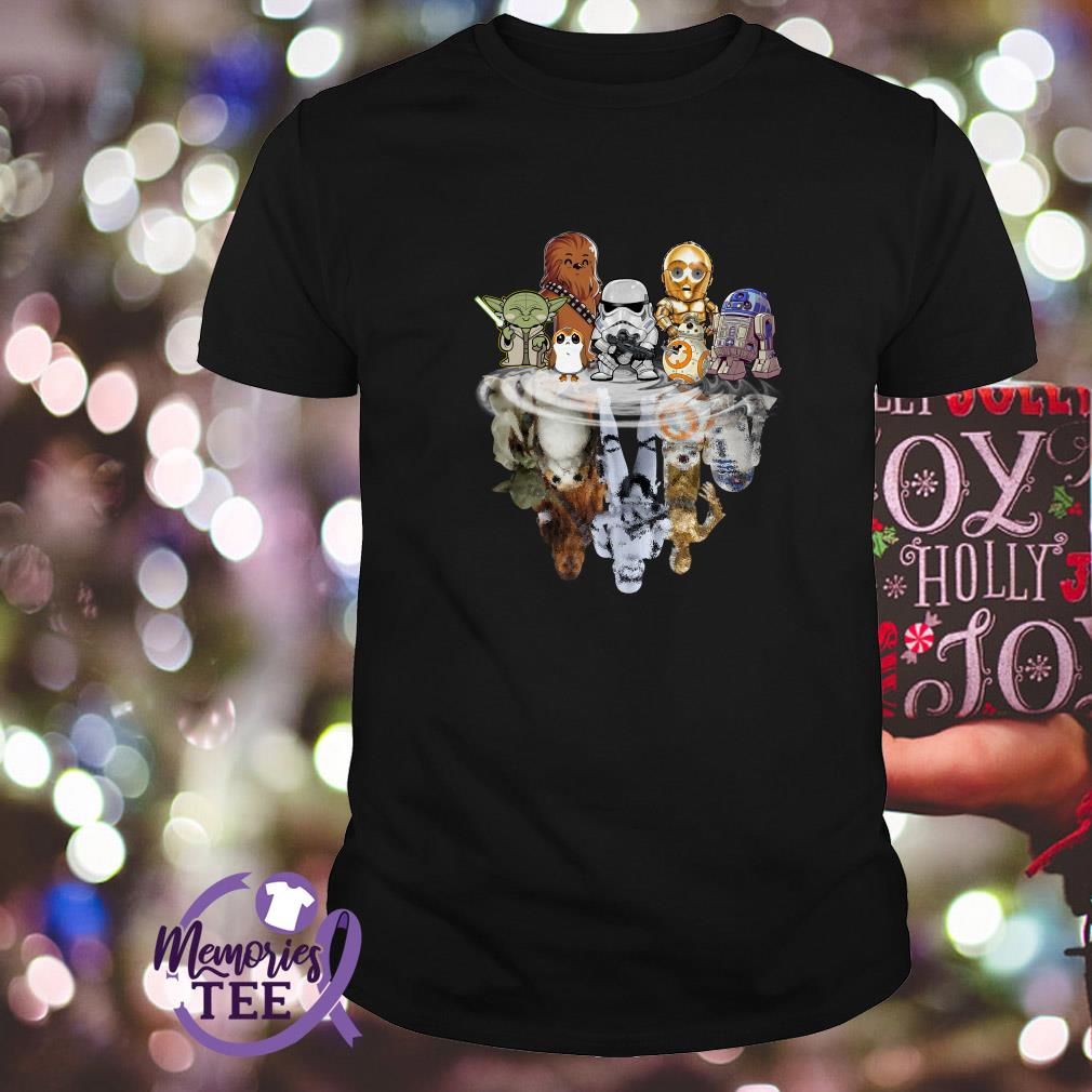 Star Wars characters chibi water reflection shirt