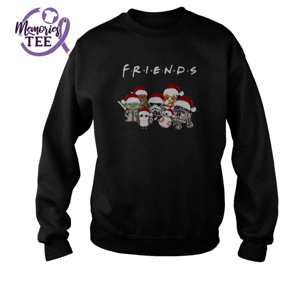 Star Wars Yoda Stormtrooper Chewbacca chibi Friends Christmas sweater