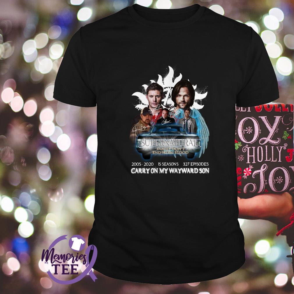 Supernatural carry on my wayward son signature shirt