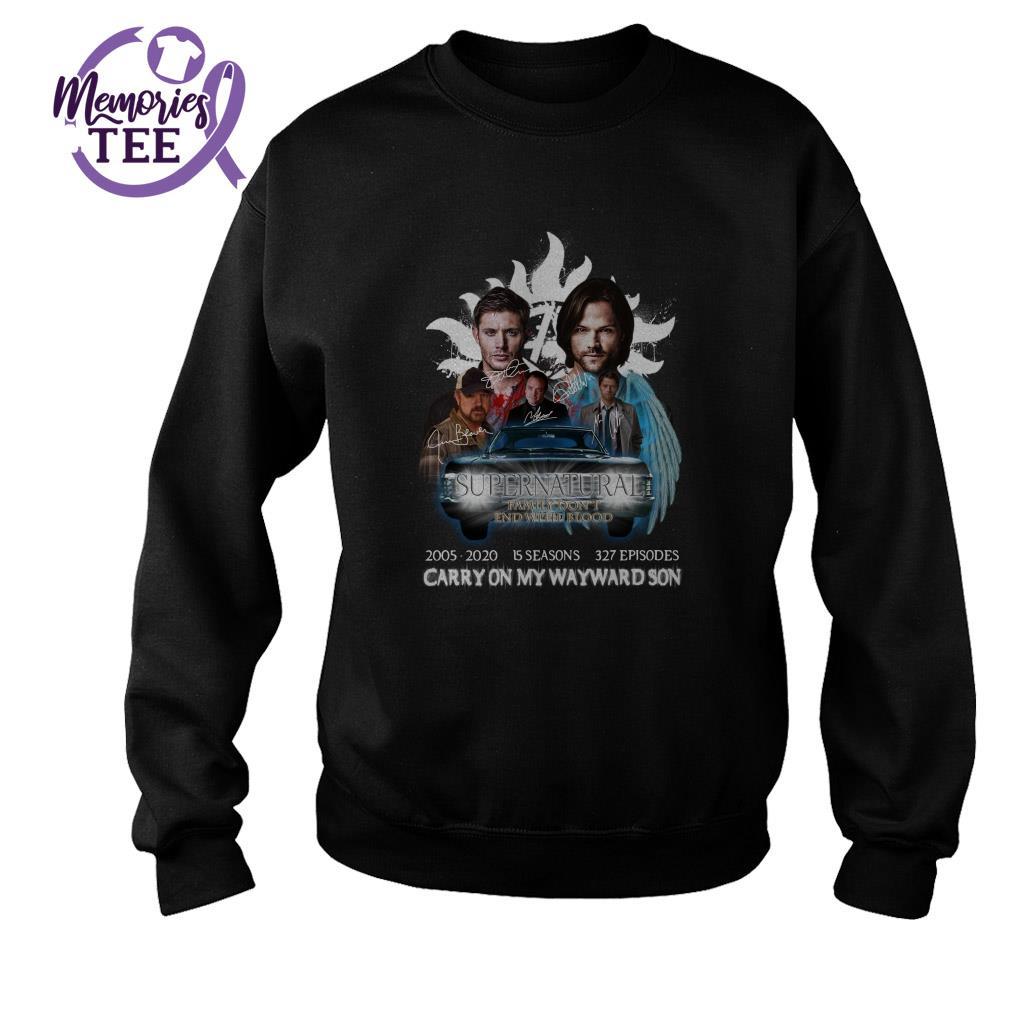 Supernatural carry on my wayward son signature Sweater