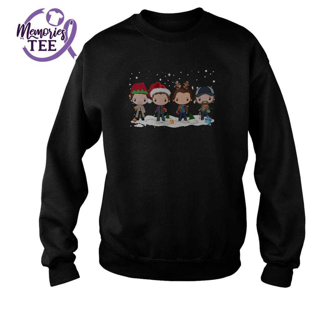 Supernatural chibi Christmas snow ugly sweater