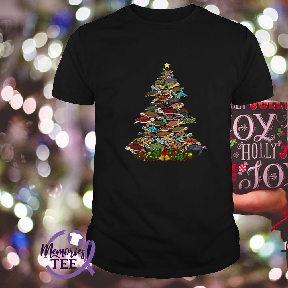 Turtles Christmas tree animal ugly Guys Shirt