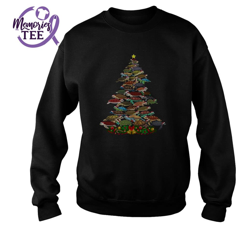 Turtles Christmas tree animal ugly sweater