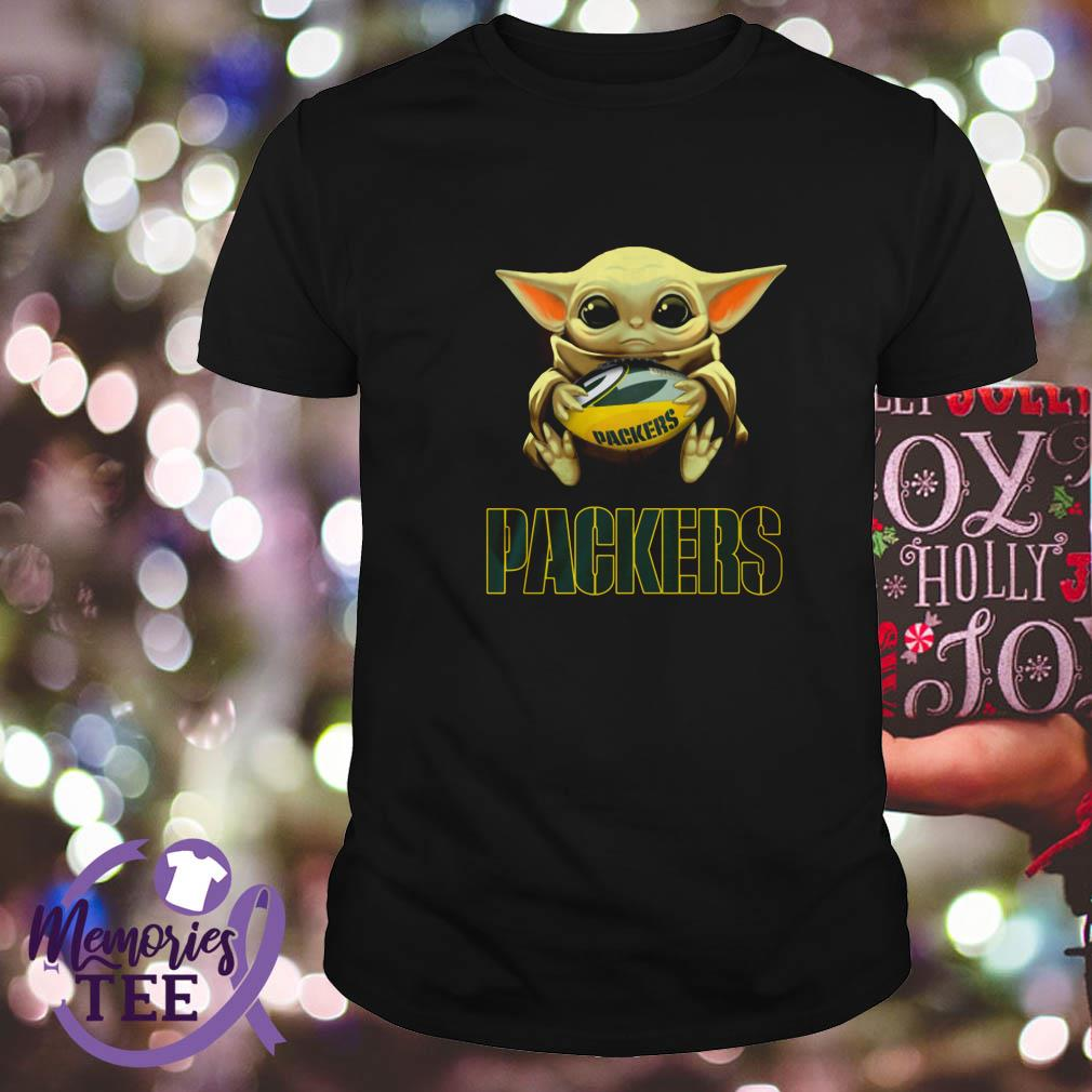 Baby Yoda Hug Green Bay Packers Shirt Hoodie Sweater And V Neck T Shirt