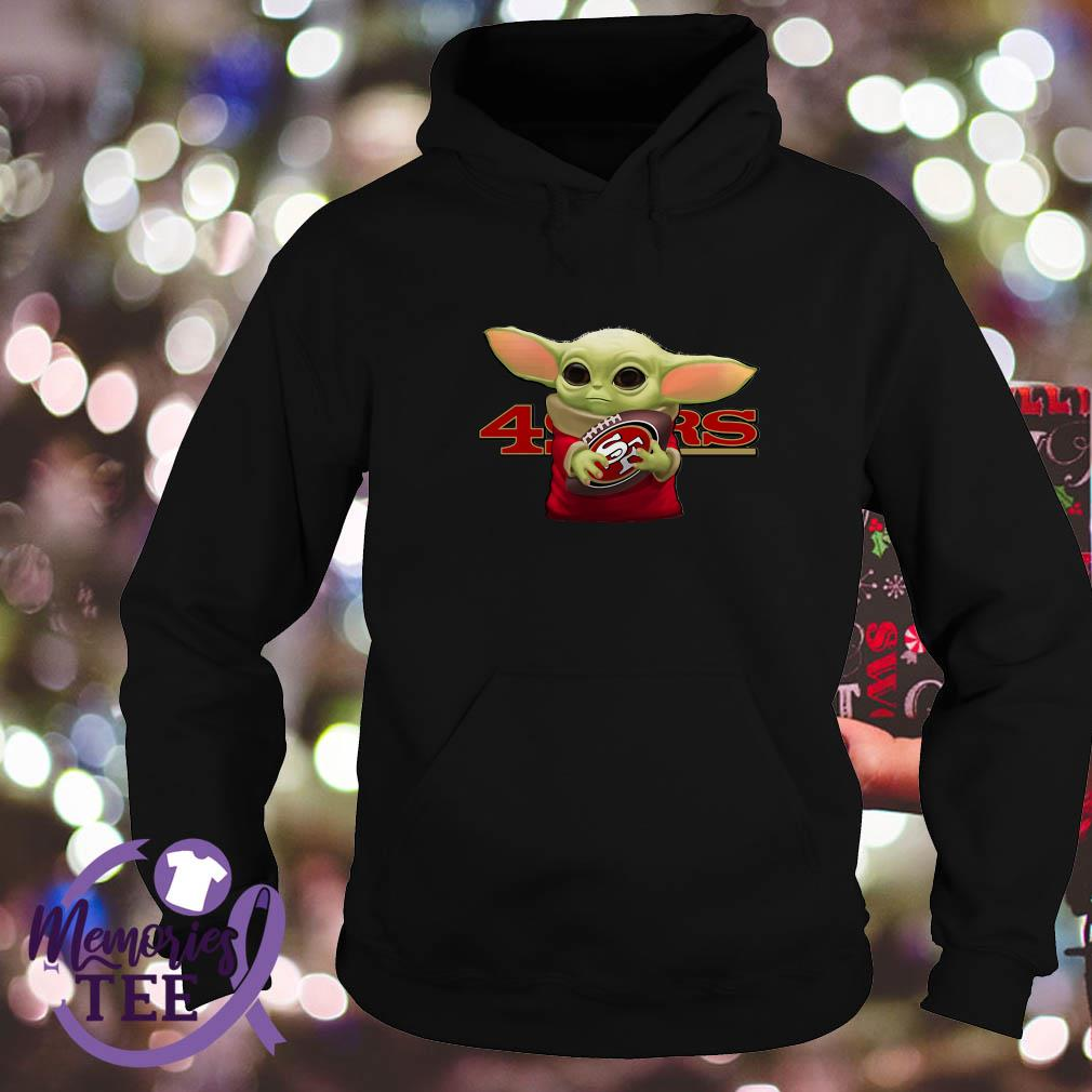 Baby Yoda Hug San Francisco 49ers Shirt Sweater And V Neck T Shirt