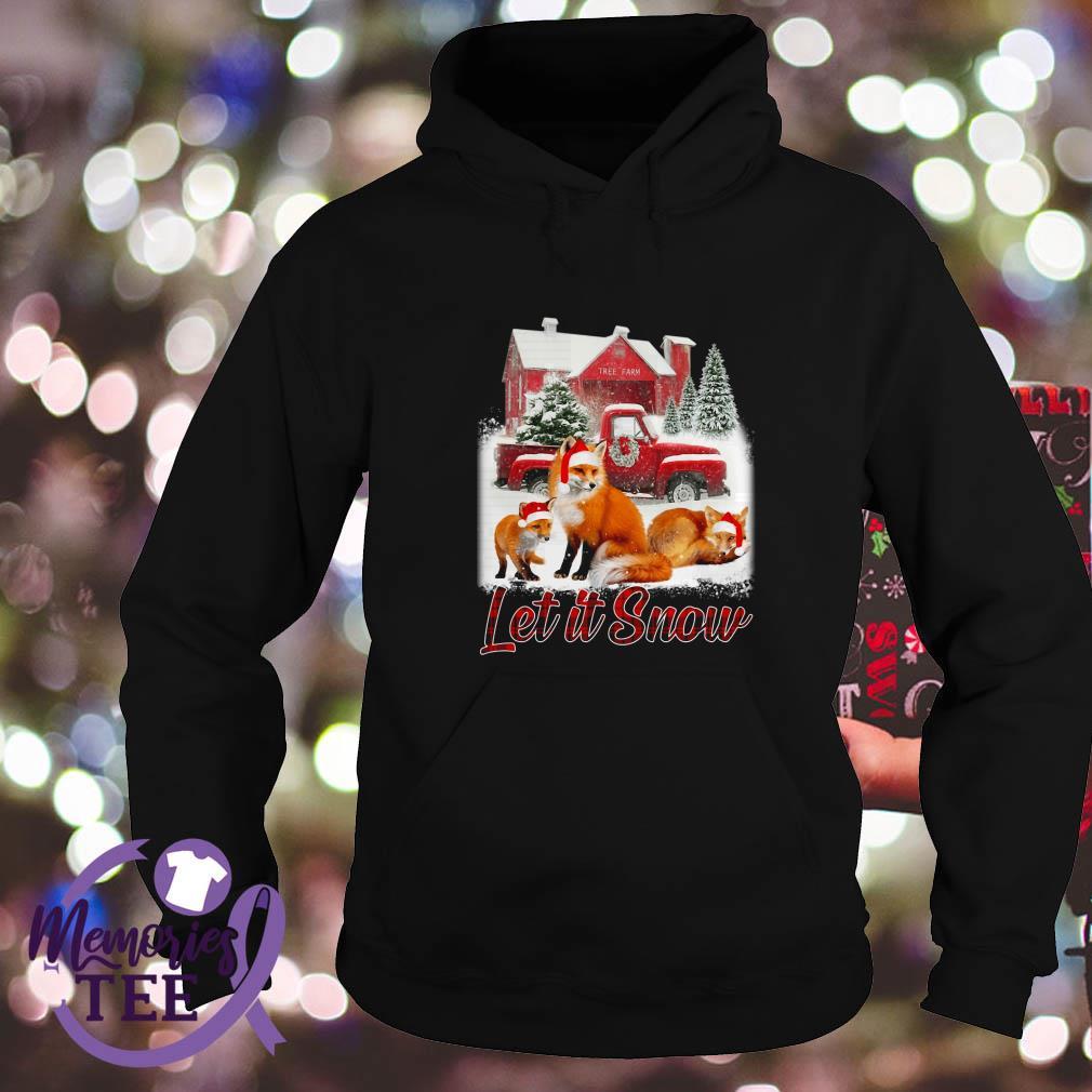 Foxs Santa hat Let it Snow Christmas Hoodie