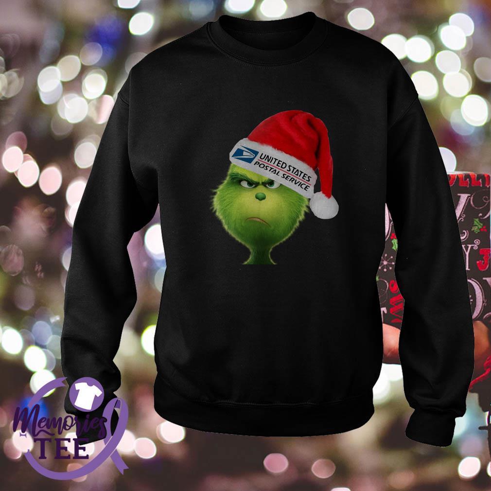 Grinch Santa United states postal service shirt