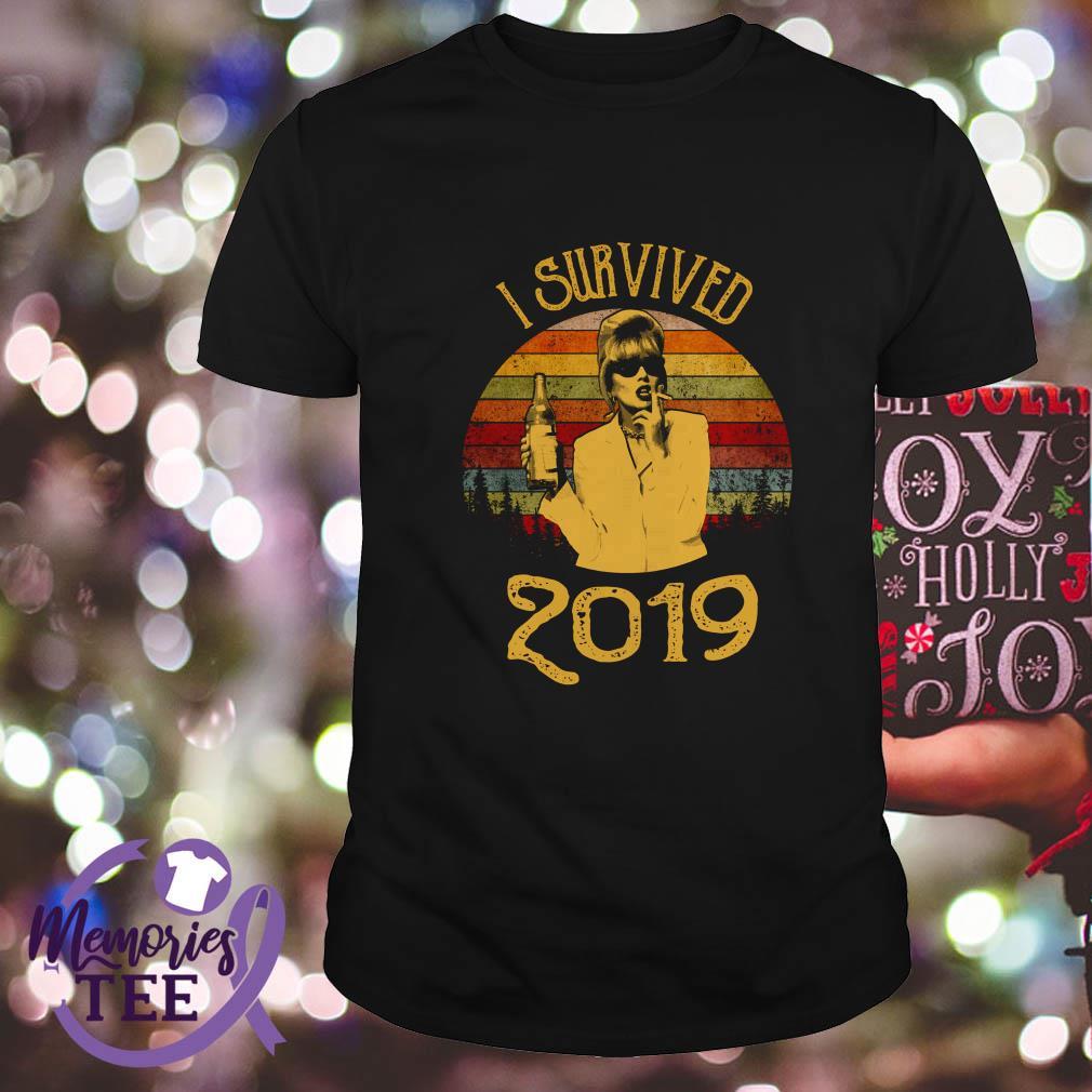 Jennifer Saunders I survived 2019 sunset shirt