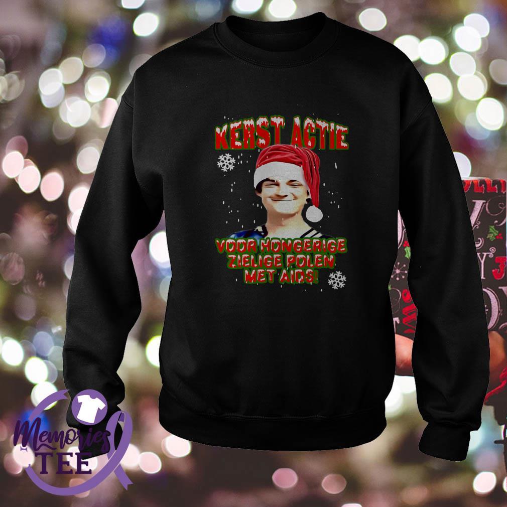 Kerstactie voor hongerige zielige polen met aids Christmas sweatshirt