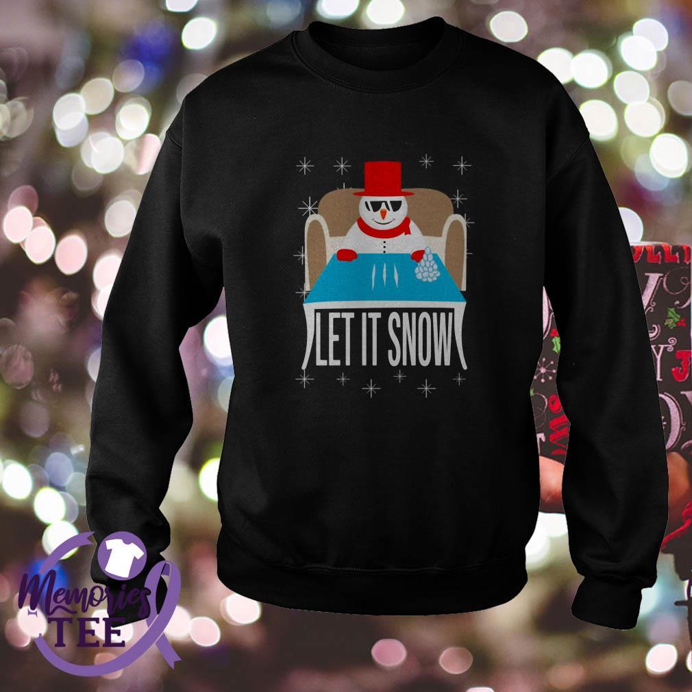 Snowman Walmart Cocaine Santa Let It Snow sweatshirt