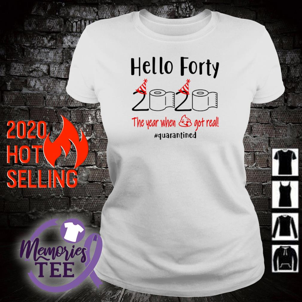 Toilet Paper Hello Forty 2020 the year when shit got real Covid 19 ladies tee