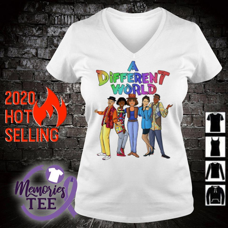 A different World characters s v-neck t-shirt