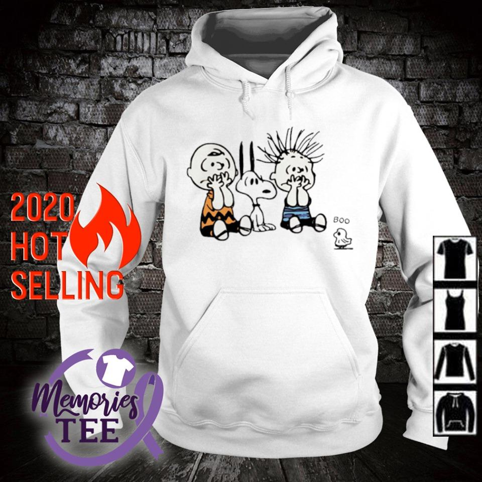 Peanuts characters scare ghost boo s hoodie