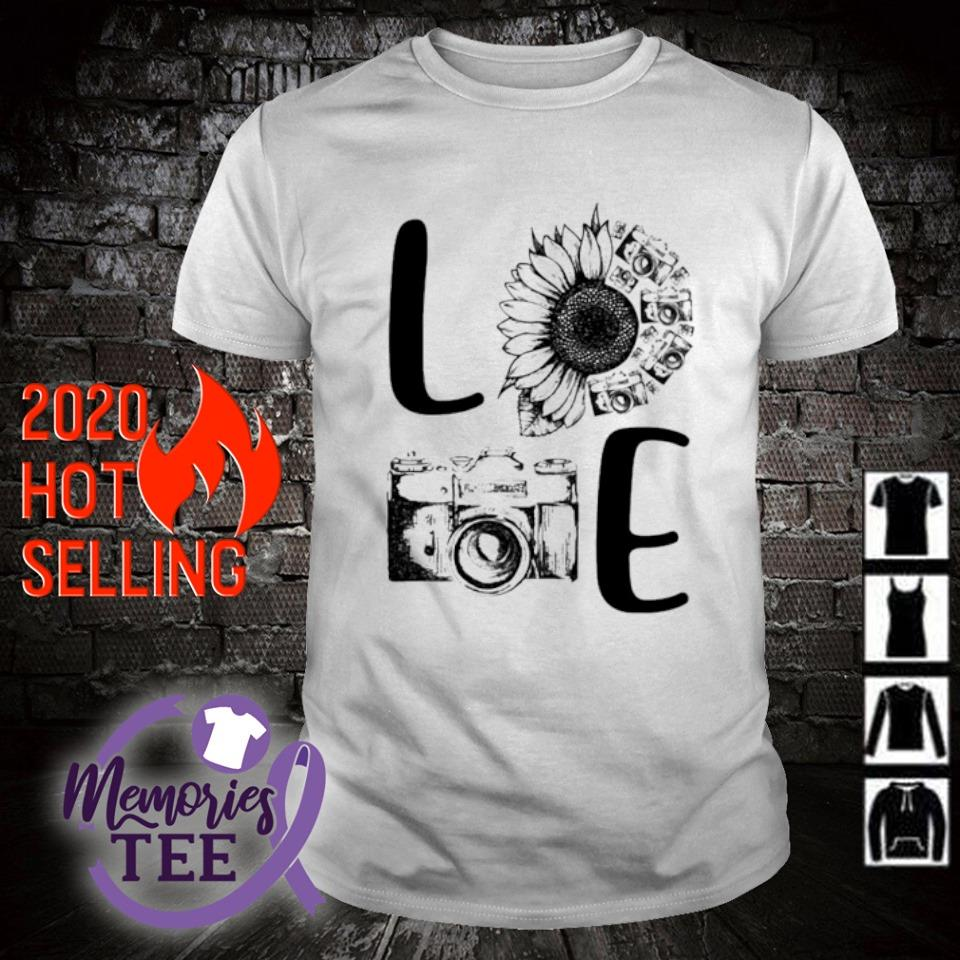 Sunflower Camera love shirt
