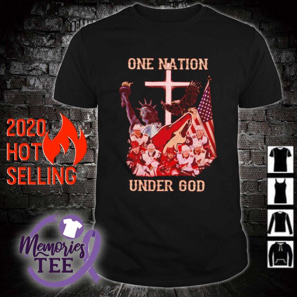 Arizona Coyotes one nation under God shirt
