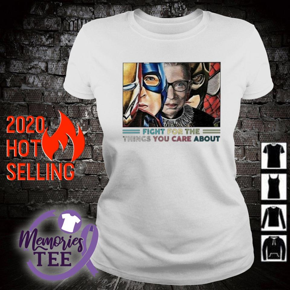 Ruth Bader Ginsburg Superheroes fight for the things you care about s ladies-tee